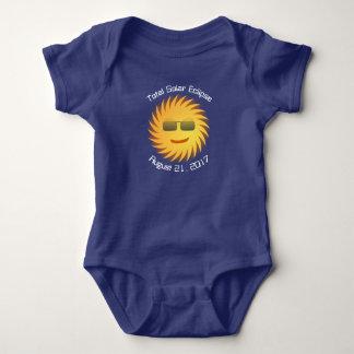 Total Solar Eclipse Baby Bodysuit - Royal Blue