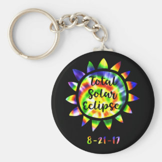 Total Solar Eclipse Bright Tie Dye Key Chain