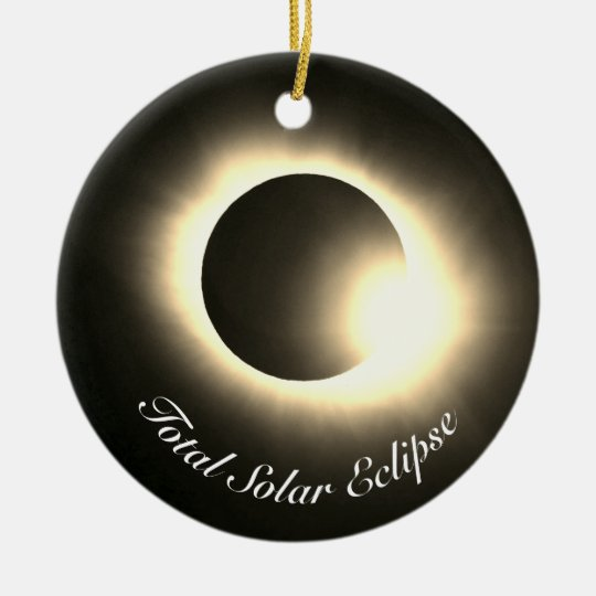 Total Solar Eclipse Christmas Ornament