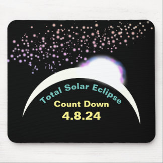 Total Solar Eclipse Countdown 4.8.24 - Mouse Mat