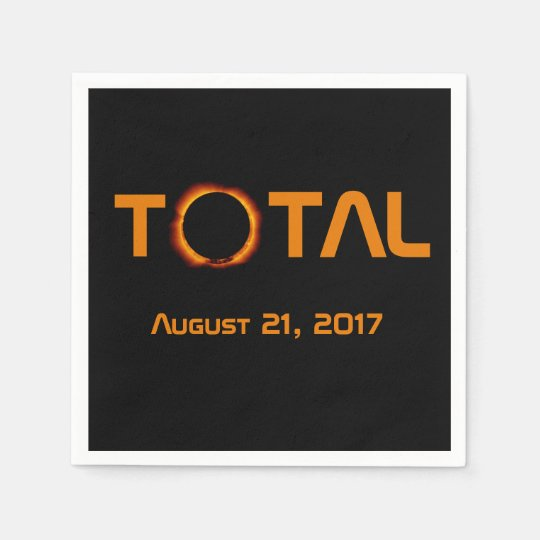 Total Solar Eclipse Event Disposable Napkin