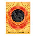 Total Solar Eclipse Fractal Art Postcard