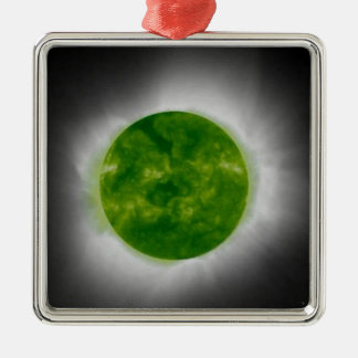 Total Solar Eclipse Green Corona Christmas Ornament