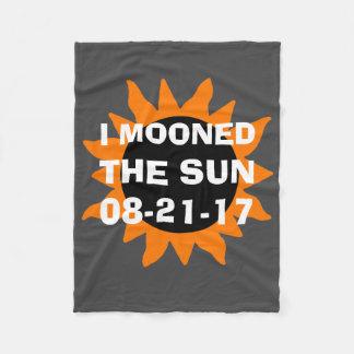 Total Solar Eclipse I Mooned the Sun Fleece Blanket