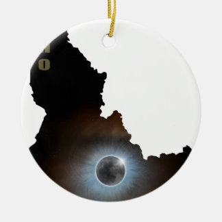Total Solar Eclipse in Idaho Map Outline Christmas Ornament