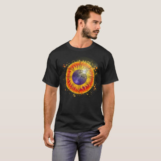 Total Solar Eclipse Moon Face T-Shirt