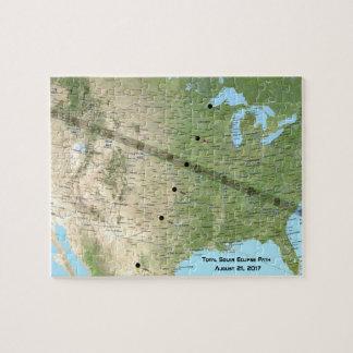 Total Solar Eclipse Path Map 2017 Puzzles