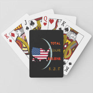 Total Solar Eclipse Playing Cards Aug 21st. USA