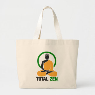 Total Zen - Peace, Tranquility, Relaxation Large Tote Bag