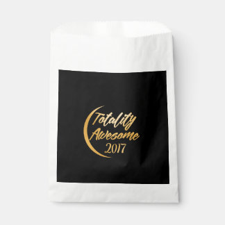 Totality Awesome 2017 Solar Eclipse Favor Bag Favour Bags