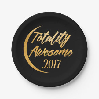 Totality Awesome Total Solar Eclipse Party Plate 7 Inch Paper Plate