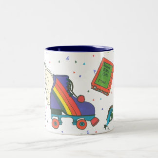Totally 80 s Icons Rollerskate Coffee Mug
