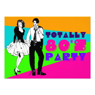 Totally 80 s Party Personalized Invite