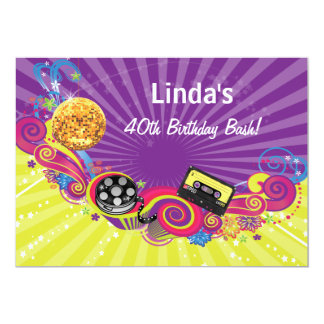 totally 80s decade theme retro  party Invitation