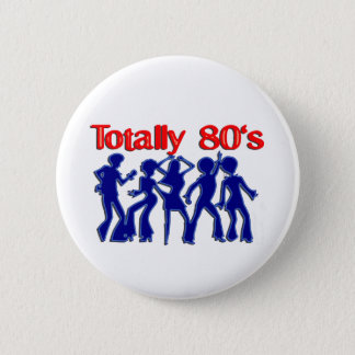 Totally 80s disco 6 cm round badge
