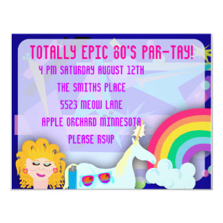 Totally 80s Epic Party Time Announcement Card