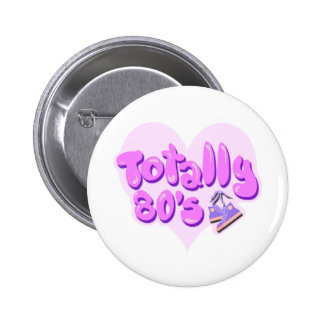 Totally 80s Heart 6 Cm Round Badge