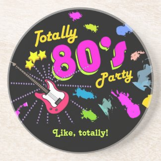 Like Totally 80s Party Coaster