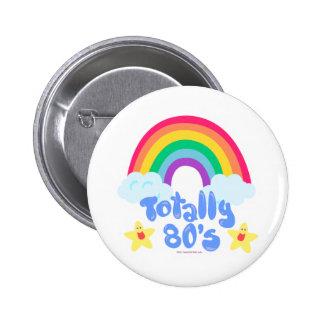 Totally 80s rainbow 6 cm round badge