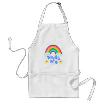 Totally 80s rainbow standard apron