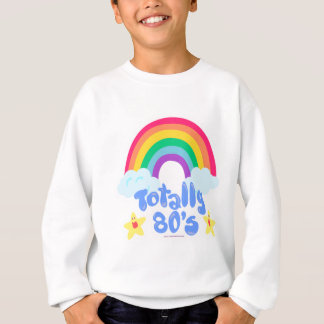 Totally 80s rainbow sweatshirt