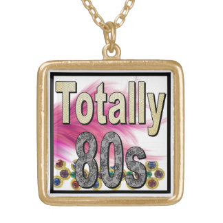 Totally 80s square pendant necklace