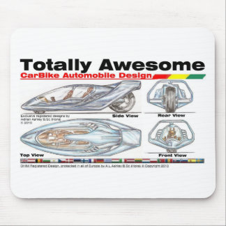 Totally Awesome CARBIKES v8 Mouse Pad