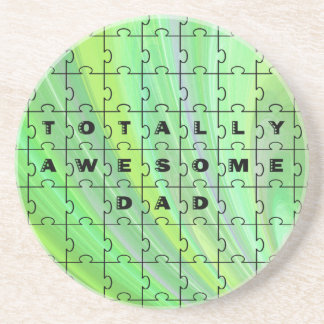 Totally Awesome Dad Green Coaster