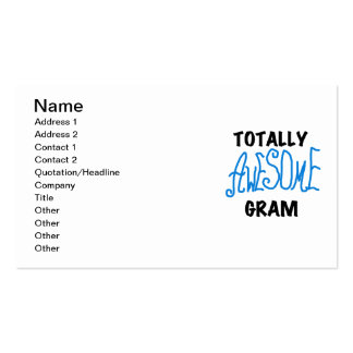 Totally Awesome Gram Blue Tshirts and Gifts Business Card Templates