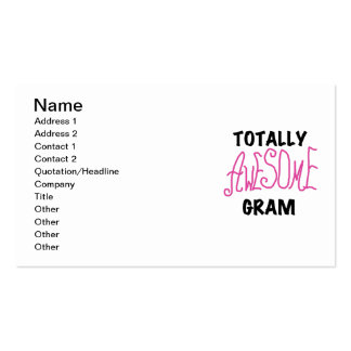 Totally Awesome Gram Pink Tshirts and Gifts Business Card Templates