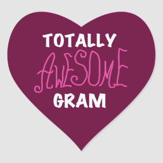 Totally Awesome Gram Pink Tshirts and Gifts Heart Sticker