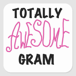 Totally Awesome Gram Pink Tshirts and Gifts Stickers