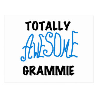Totally Awesome Grammie Blue T-shirts Gifts Postcard
