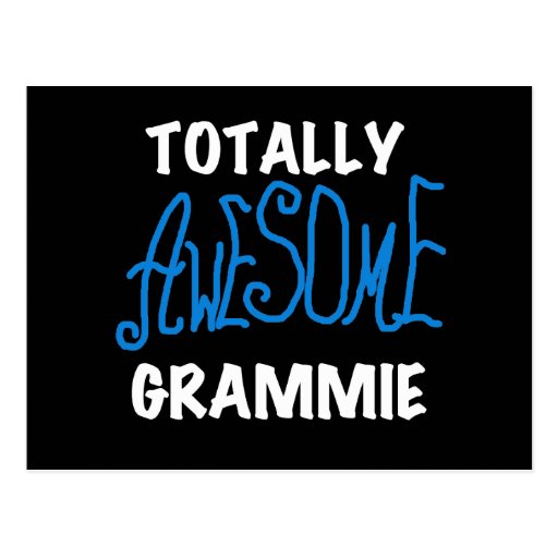 Totally Awesome Grammie Blue Tshirts Gifts Post Card