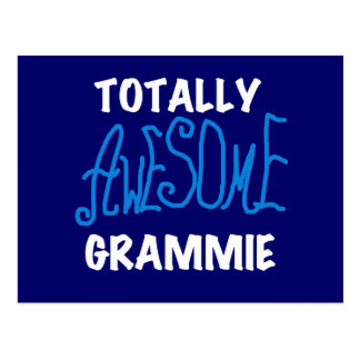 Totally Awesome Grammie Blue Tshirts Gifts Postcard