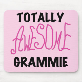 Totally Awesome Grammie Pink T-shirts Gifts Mouse Mat