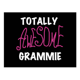 Totally Awesome Grammie Pink T-shirts Gifts Postcard