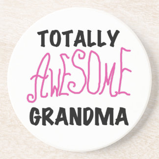 Totally Awesome Grandma - Pink Tshirts and Gifts Coaster