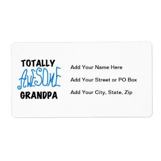 Totally Awesome Grandpa T-shirts and Gifts Shipping Label