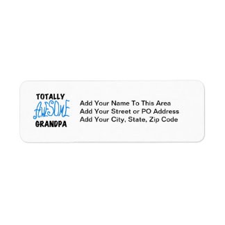 Totally Awesome Grandpa T-shirts and Gifts Return Address Label
