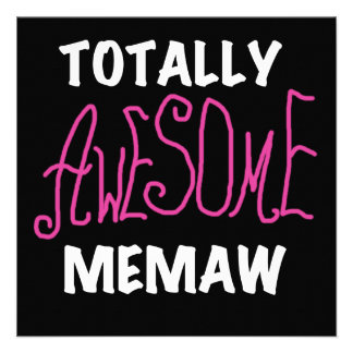 Totally Awesome Memaw Pink T-shirts and Gifts Custom Invitation