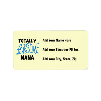 Totally Awesome Nana Blue T-shirts and Gifts Address Label