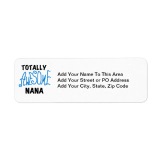 Totally Awesome Nana Blue T-shirts and Gifts Return Address Label