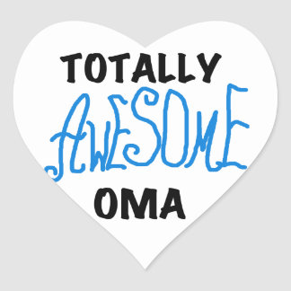 Totally Awesome Oma Blue T-shirts and Gifts Heart Sticker