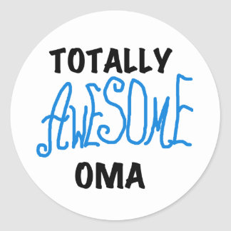 Totally Awesome Oma Blue T-shirts and Gifts Round Sticker