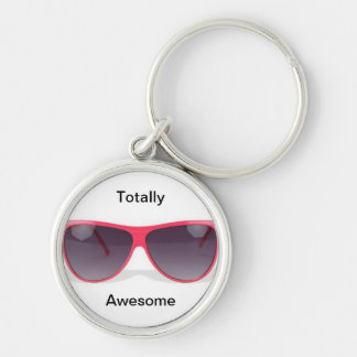 Totally Awesome Sunglasses Silver-Colored Round Key Ring