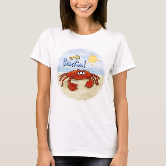 Totally Beachin crab t-shirt