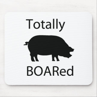 Totally boared mouse pad