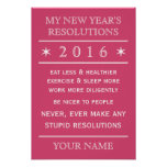Totally customisable New Year's Resolution poster