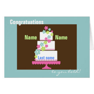Totally Customized Wedding Congratulations Card